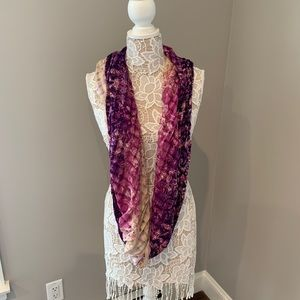 Urban outfitters purple infinity scarf